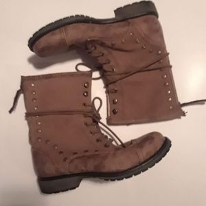 Roxy suede lace up boots for women size 8.5
